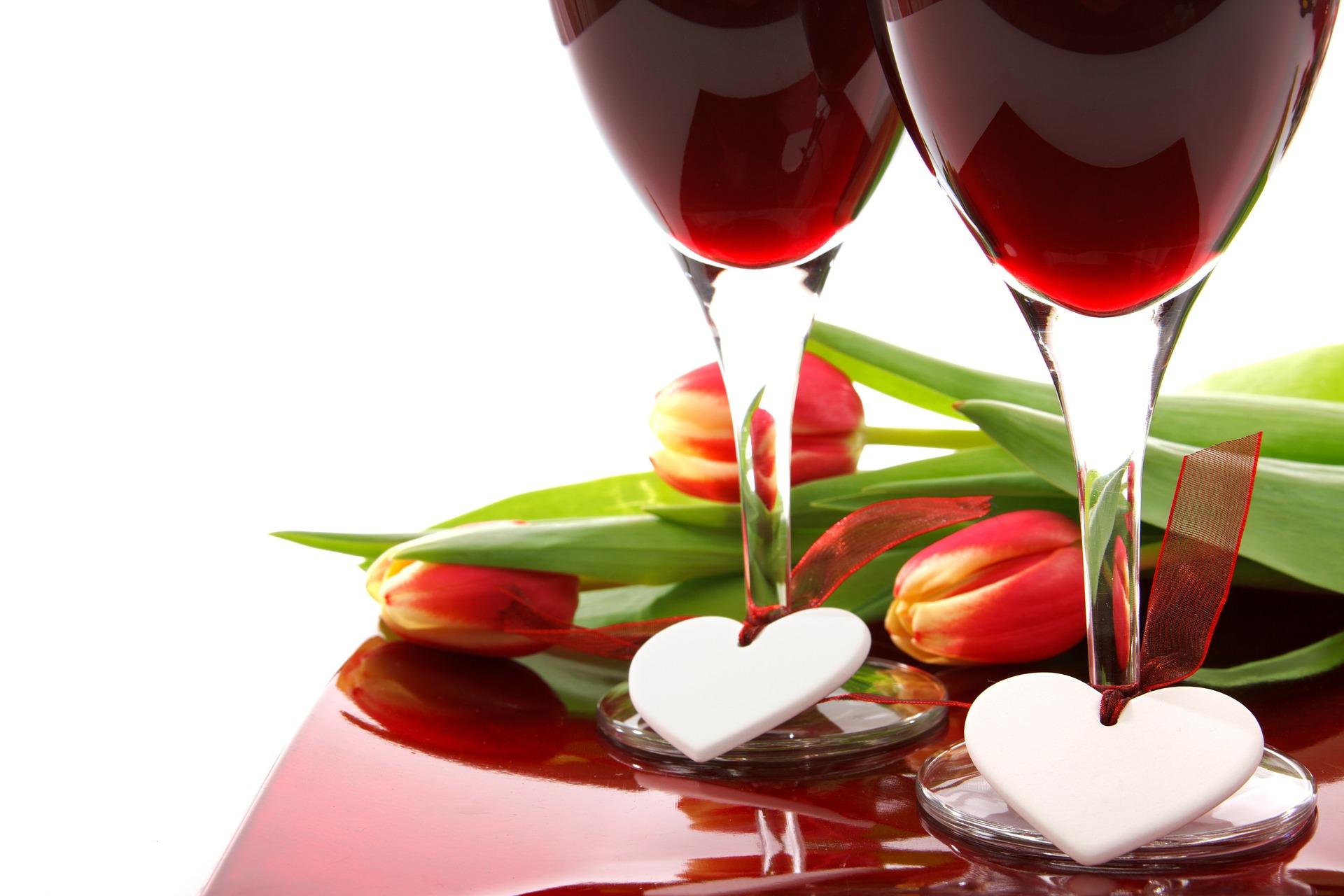 Le vin et la Saint-Valentin...